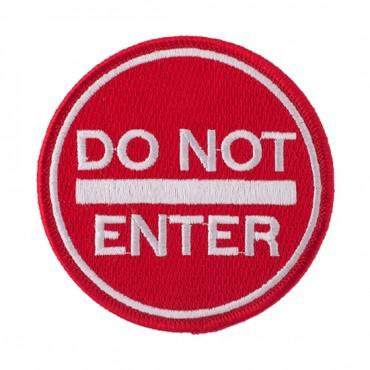 """3"""" Do Not Enter Applique"""