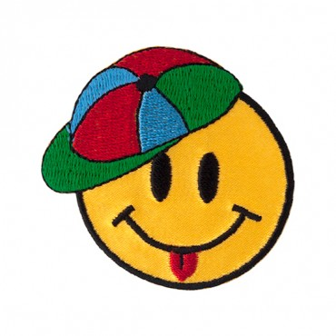 """2 3/8"""" (60mm) Happy Face and Hat Applique"""