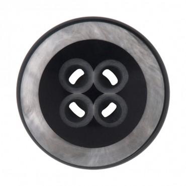 4-Hole Marbleized Rim Button