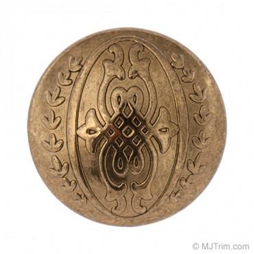 Metal Dome Ornate Button