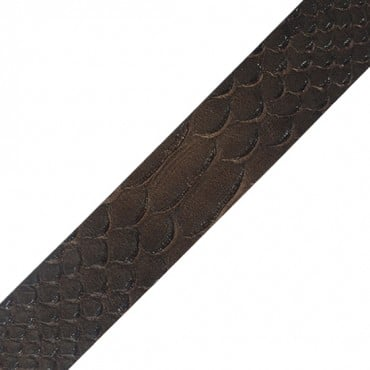 "1 1/4"" (32mm) Stamped Animal Leather Ribbon"