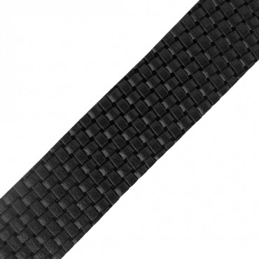 "1 1/2"" (38mm) Weave Stamped Leather Ribbon"