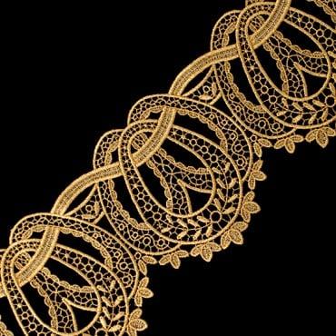 """4 1/2"""" (114.3 MM) Ornate Metallic Lace"""