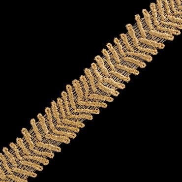"1"" (26 MM) Chevron Metallic Lace"