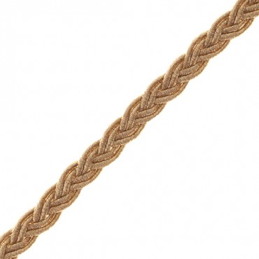 8mm Woven Metallic Braid