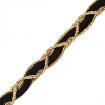 "3/8"" (10mm) Metallic Weave Braid"