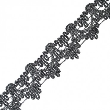 "1 1/2"" (38 MM) Scalloped Metallic Braid"