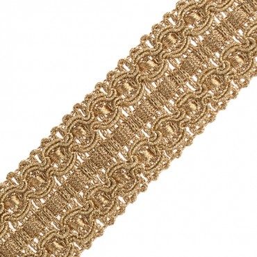 "1 1/2"" (38mm) Metallic Braid"