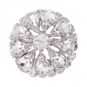 Brilliance Petal Rhinestone Button