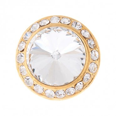 Halo Rhinestone Button