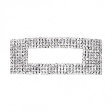 "5 1/2"" x 2"" Rectangle Rhinestone Buckle"