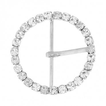 "Brilliance 1 3/4"" Round Rhinestone Buckle"