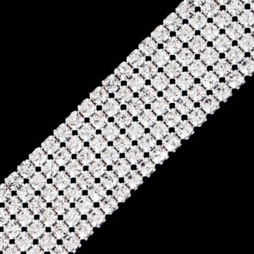 6 ROW EUROPEAN RHINESTONE TRIM
