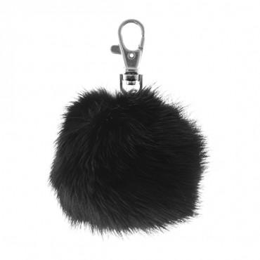 """3"""" Mink Fur Pompom Keychain"""