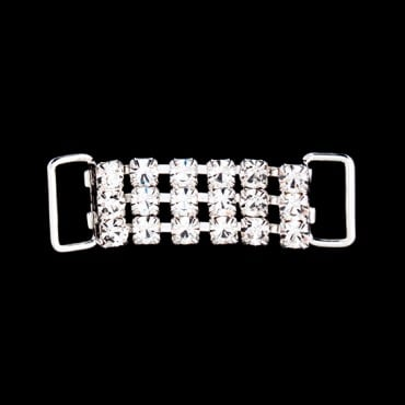 "2"" Three Row Rhinestone Connector"