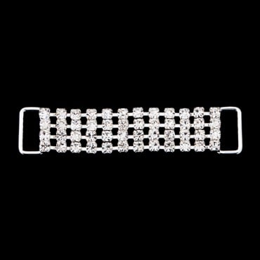 "2 1/2"" Four-Row Rhinestone Connector"