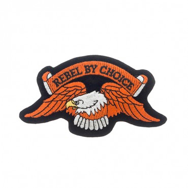"4 1/2"" X 2 1/2"" EAGLE REBEL BY CHOICE APPLIQUE"
