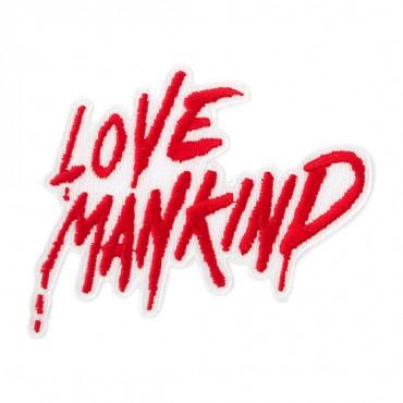 "3"" x 2 3/4"" LOVE MANKIND PATCH"