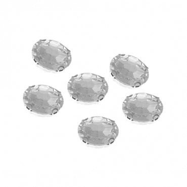 8x10mm Oval Sew-On Jewel with Setting