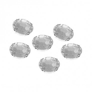 10x14mm Oval Sew-On Jewel with Setting