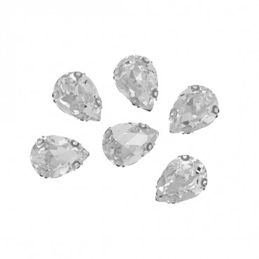 10x14mm Pear Shape Sew-On Jewel with Setting