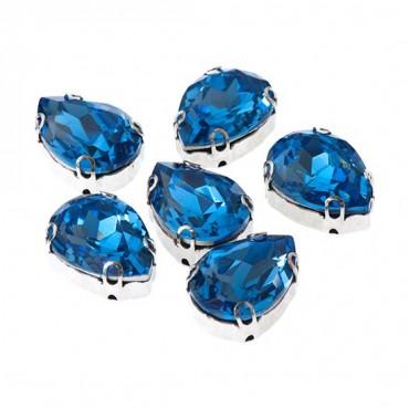 Brilliance 10x14mm Pear Shape Sew-On Jewel w/ Setting