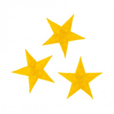 "1 1/4"" EMBROIDERED STAR APPLIQUE"