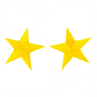 "2 1/2"" EMBROIDERED STAR APPLIQUE-GOLD"