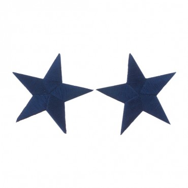 """2 1/2"""" EMBROIDERED STAR APPLIQUE"""