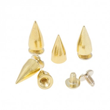 7MM X 14MM METAL SPIKES WITH SCREW