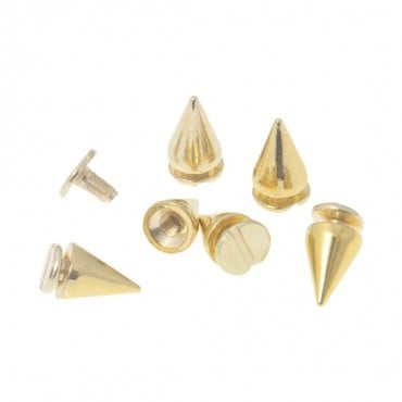 7MM X 10MM METAL SPIKES WITH SCREW