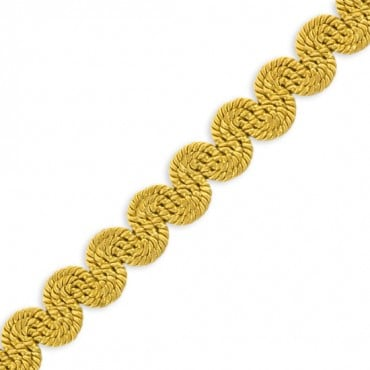 "1/2"" RAYON SCROLL BRAID - GOLD"