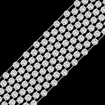 SS10 11-ROW RHINESTONE BANDING - CRYSTAL/WHITE