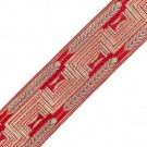 53MM Fine Imported Jacquard 307 Red/Gold