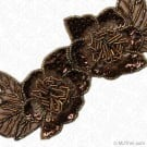 "2.5"" BEADED / SEQUIN FLORAL TRIM - BRONZE MULTI"