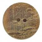 2 HOLE WEATHERED HORN BUTTON