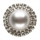 RHINESTONE PEARL BUTTON