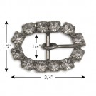 "1/2"" x 3/4"" SMALL OVAL BUCKLE"
