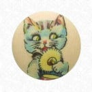 Silly Cat Button