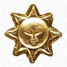 METAL SUN BUTTON - GOLD