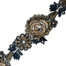 "3.5"" EMBROIDERED FLORAL SEQUIN TRIM"