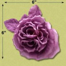 CURLY CENTER SILK ROSE WITH PIN