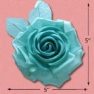 IMPORTED SILK ROSE FLOWER PIN