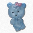BEAR BUTTON W/SHANK - BLUE