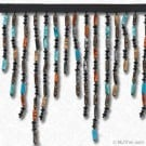 "6.5"" BEADED FRINGE - TURQUOISE MULTI"