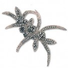 RHINESTONE APPLIQUE - CRYSTAL/SILVER