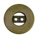 Flat Metal Button with Cutouts