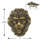 3 3/4&quot; X 3&quot; LION HEAD BUCKLE