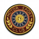 "2.5"" MOTOR SPORT CLUB CREST - GOLD MULTI"
