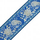 Embroidered Metallic Jacquard Blue/Gold